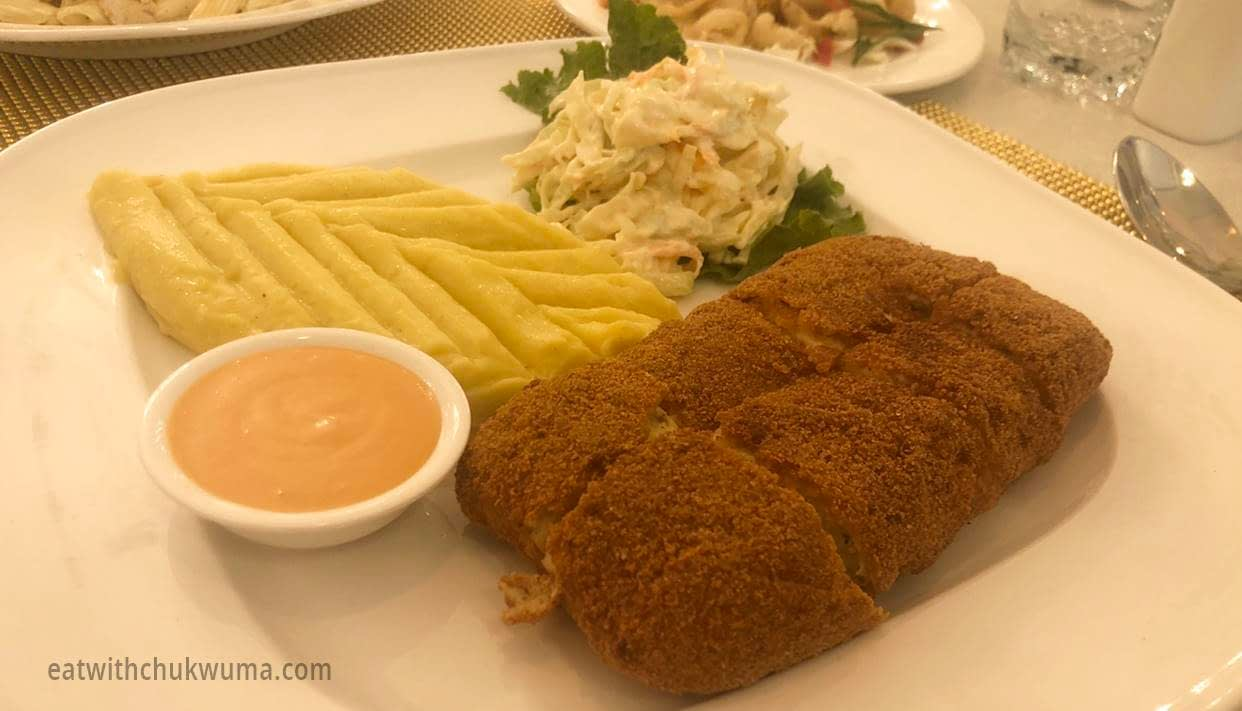 Brook Lounge Tropic Galleria Abuja Cordon Bleu Chicken - LET'S CHECK OUT BROOK LOUNGE, TROPIC GALLERIA CBD