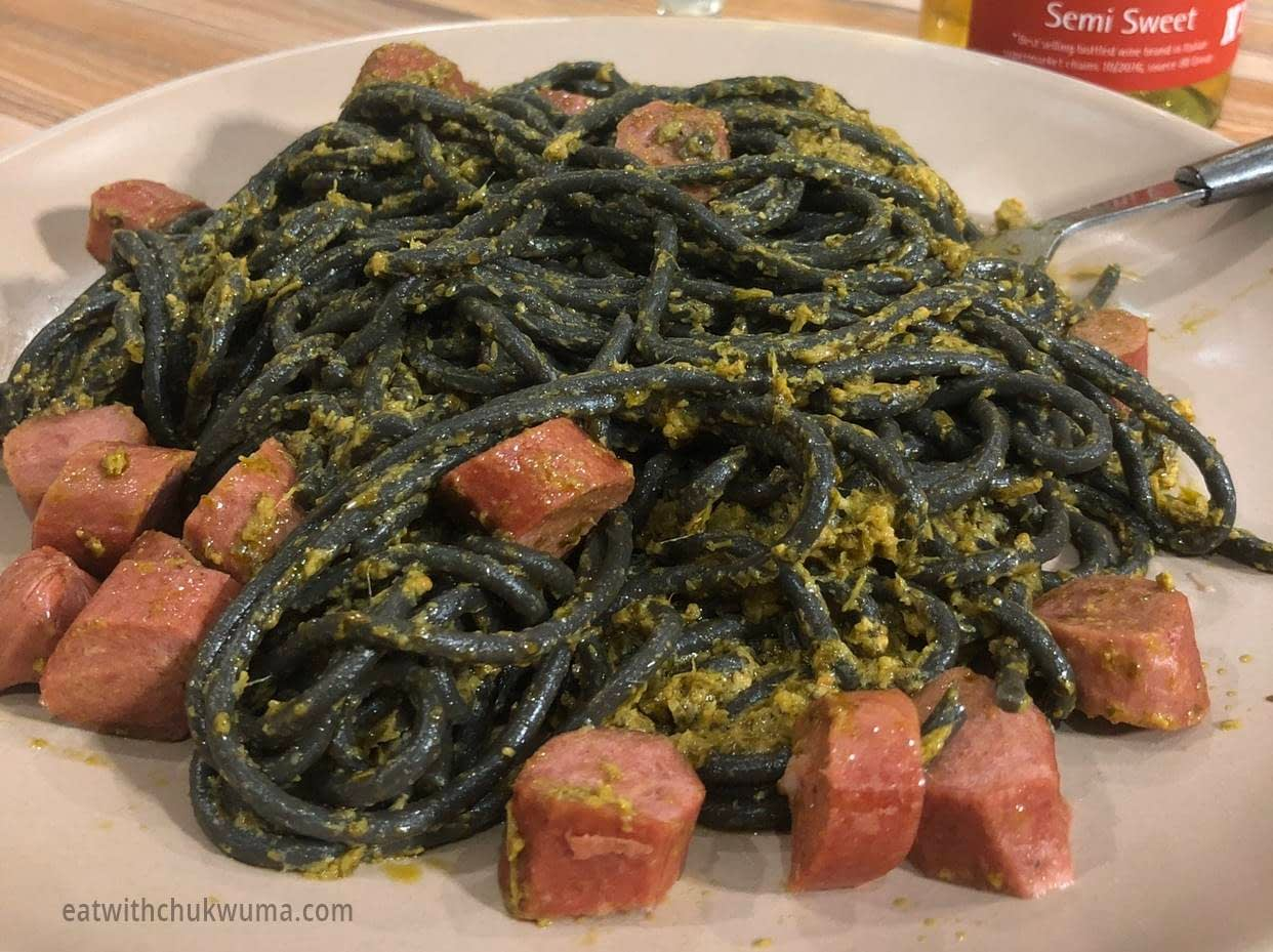 Pesto Pasta - QUICK FIX, PESTO SQUID INK SPAGHETTI