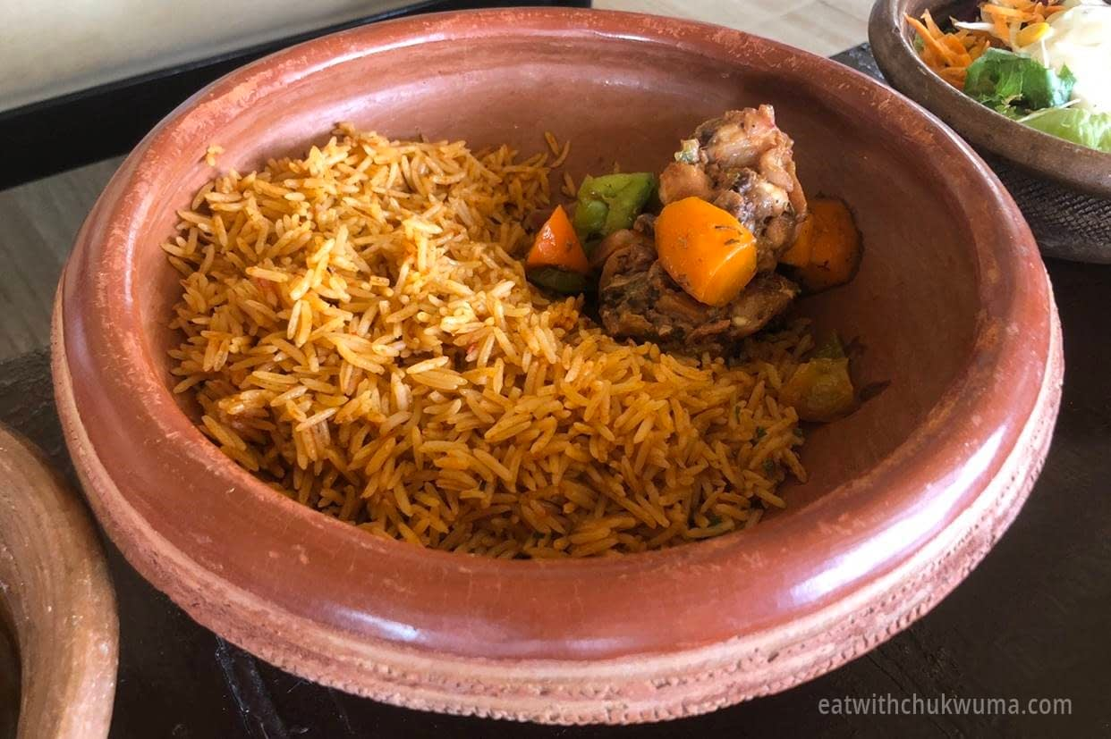 Lubui Restaurant Almat Farms Jollof 1 - LET'S CHECK OUT LUBUI, ALMAT FARMS KUJE